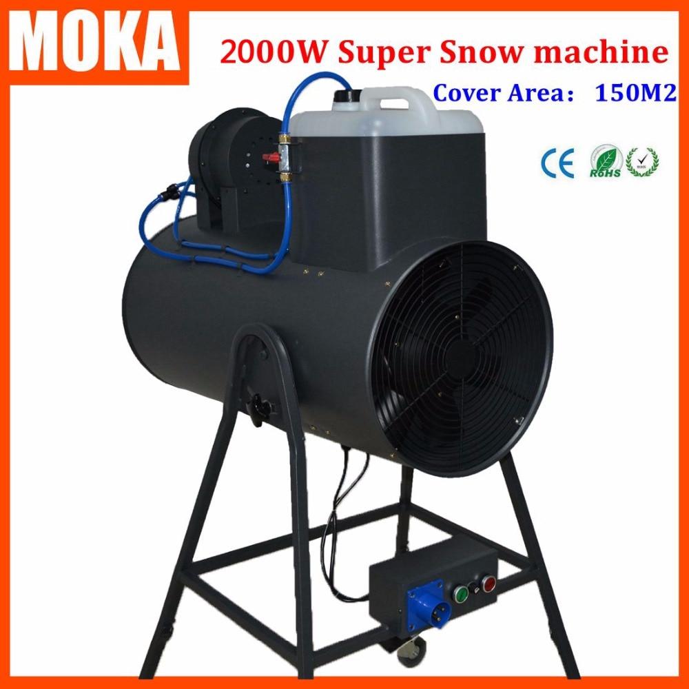 2000W snow machine snowstorm machine Artificial snow maker Snow Blower Machine Christmas Projector for disco dance club party