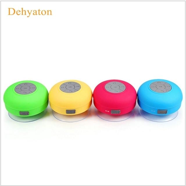 Dehyaton сабвуфер Водонепроницаемый душ Динамик Беспроводной Bluetooth гарнитура получите вызов Музыка всасывания микрофоном для iPhone Samsung