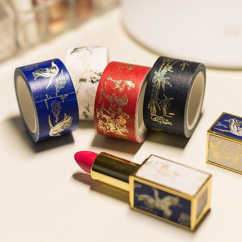 Royal Chinese Floral Fashion High Quality Washi Tape 25mm*5M Dragon Horse Phoenix