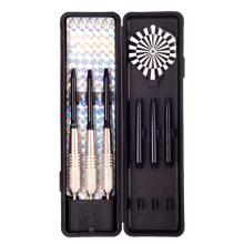 DULYMADE 3PCS/set, 20 Grams Steel Tip Brass Darts--Nickel Plated Color, with Aluminium Shafts,PET Flights,and Dart Case