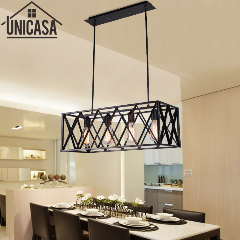 где купить Kitchen Island Pendant Lights Antique Wrought Iron Industrial Lighting Office Large Bar Light Vintage Country Ceiling Lamp по лучшей цене