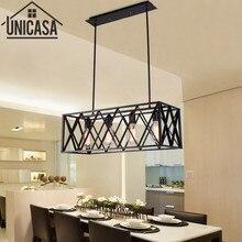 Luces colgantes de Isla de cocina, hierro forjado antiguo, iluminación Industrial, gran barra de luz Vintage, lámpara de techo de campo