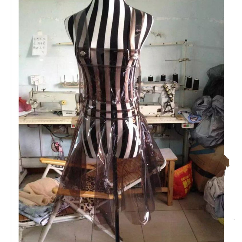 Sexy PVC Holographic Dress Women\x27s Dress Vestido Summer Dress Women Clear PVC Vinly Plastic Clothes Party Dress Women Gothic
