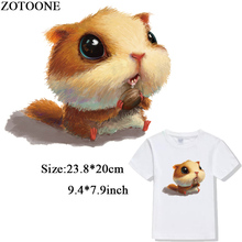 ZOTOONE Cute Squirrels Clothes Patches Iron on Transfer A-level Washable for T-shirt Dresses Heat Press Appliqued D1