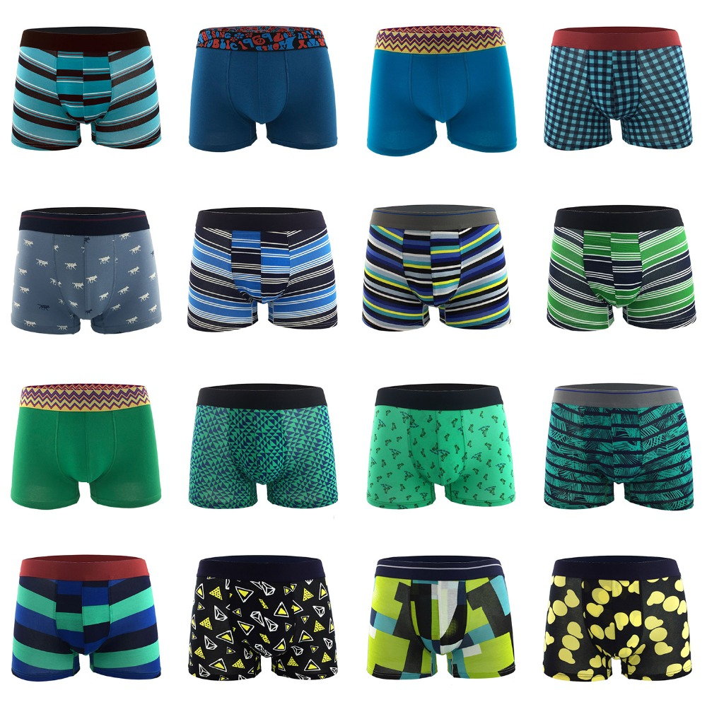 70+ Styles Top Grade Premium Cotton Boxers Men Underwear Sexy Breathable Underpants Cuecas Masculina Boxers Calzoncillos 4 Pcs