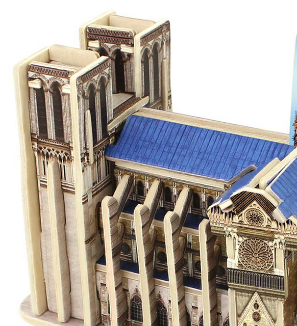 DIY 3D Wooden Notre Dame de Paris Puzzle