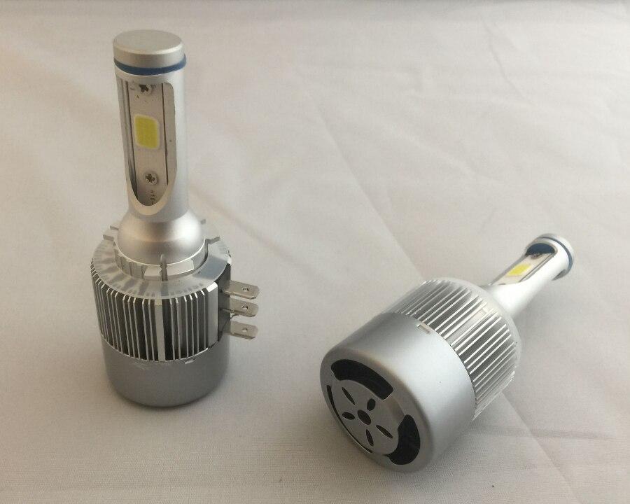 H15 LED Car Headlight Bulbs for VW Golf COB Chip 72W 7600LM H15 LED Car Light 6000K H15 LED Headlamp Bulb Auto Lamp for all cars