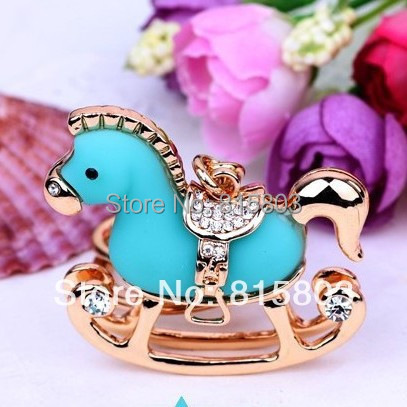 FREE SHIPPING New Super Cute Resin Whirling Horse Keychain Accessories Bag Hanger Keychain Jewelery Gifts