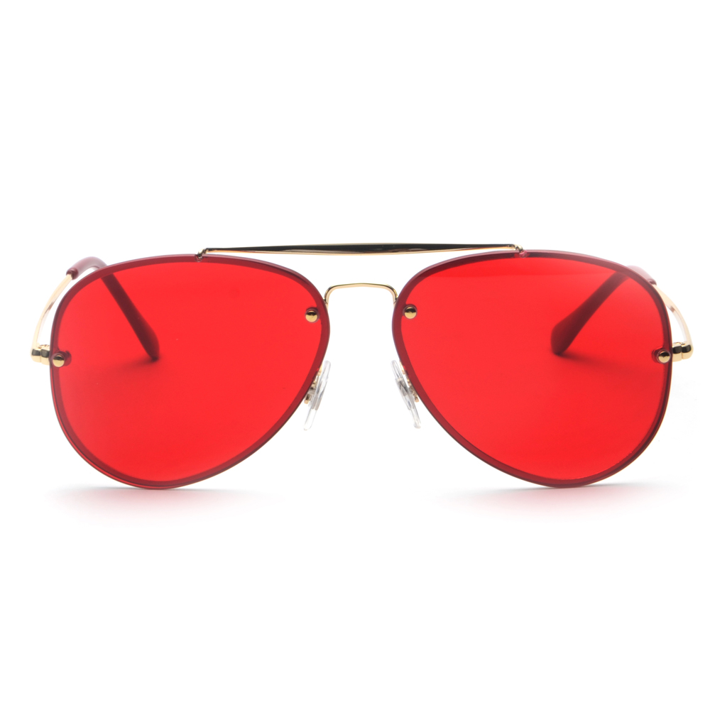 Peekaboo red sunglasses men 2018 summer high quality metal frame flat top glasses sun male female unisex uv400