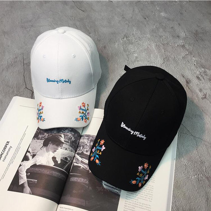 New Rose Dad Hat Drake Sanpback Flower summer Embroidery Curved Summer Snapback Baseball Caps women men Trapback Hip Hop Hat  2017 brand women baseball cap rose dad hats drake for men snapback hip hop dad hats flower embroidery curved summer black caps