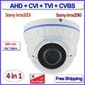 2.0MP Starvis imx290 cctv camera 4 em 1 câmera ahd 1080 P HDCVI AHD-H imx323 HDTVI Cor Noite modo de Segurança, 960 h, 2.8-12mm Lens