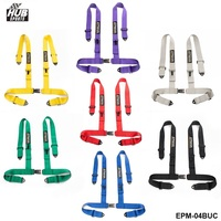 Seven Colors Universal 4 Point Snap In 3 Safety Seat Belt Racing Harness With Camlock EPM
