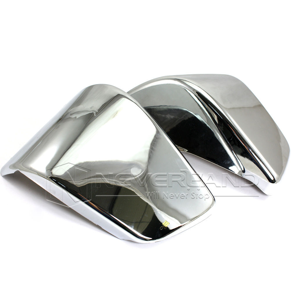 2pcs Chrome Motorcycle Battery Side Fairing Cover For Honda Shadow ACE750 VT400 1997-2003 VT 400 Wholesale D10 motorcycle saddlebag bracket support bar for honda shadow ace vt400 vt750 1997 2003 solid steel chrome 16cm 2pcs high quality