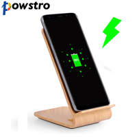 POWSTRO Wireless Qi Smart Phone Charger Phone Stand Fast Charging Phone Adapter Holder For IPhone X