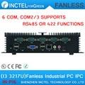 Small Fanless industrial computer IPC with 6 COM intel i3 3217u cpu industrial mini pc
