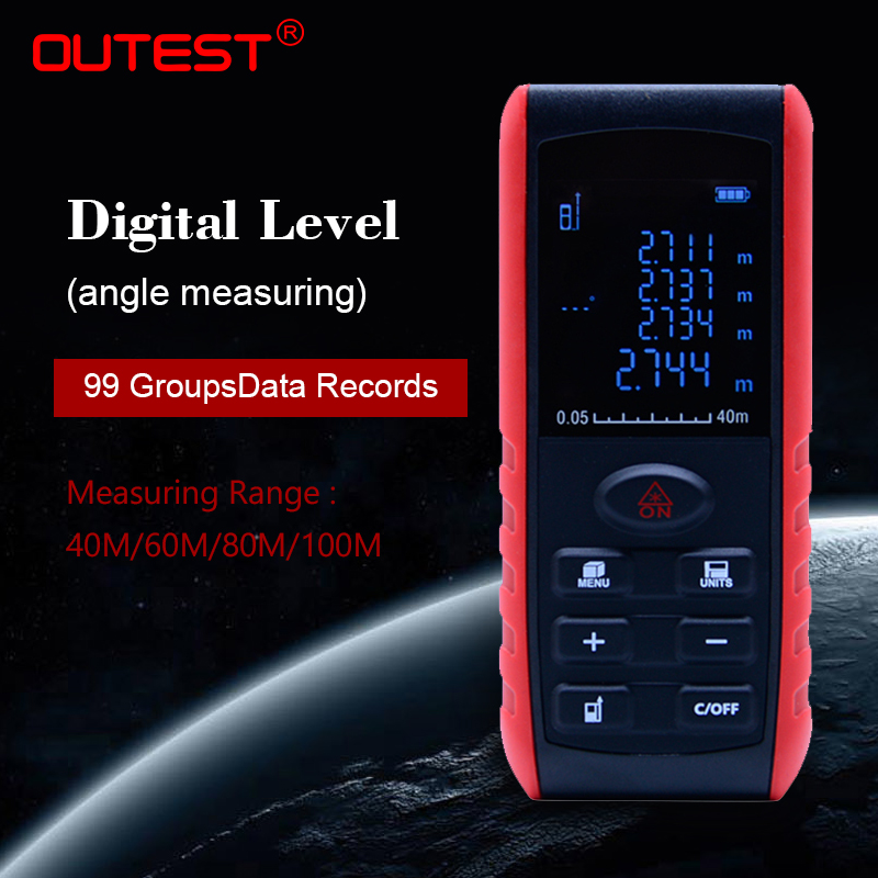 OUTEST laser distance meter rangefinder trena laser tape range finder build measure device ruler test tool 40m/60m/80m/100m mini handheld digital laser distance meter 60m rangefinder trena laser tape range finder build measure device ruler test tool