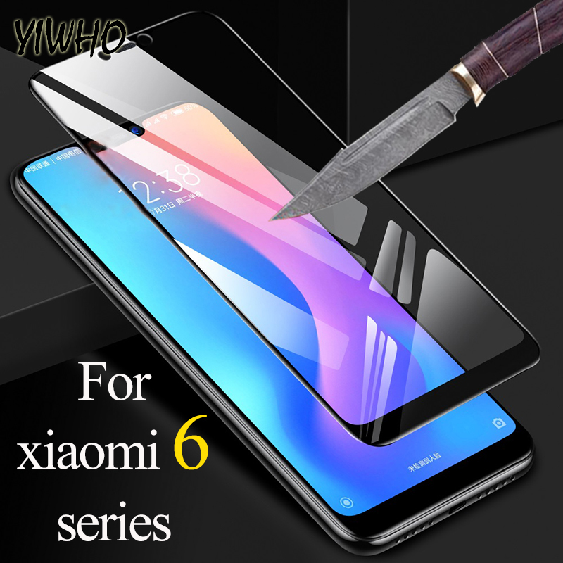 Protective glass on for <font><b>Xiaomi</b></font> <font><b>redmi</b></font> 6a <font><b>6</b></font> pro a tempered glas ksiomi a6 6pro xiomi redmi6 flim verre tremp safety sheet armor image