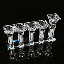 European Style 5 Head Crystal Candle Holders Stand Decoration