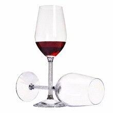 KEYTREND 470 ML Kristall Glas Wein Luxus Toasten Weingläser für Hochzeit mit Strass Gefüllt Stamm Glas AECL010