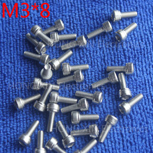 цена на M3*8 1pcs Cylinder head inner hexagon screw 304 Stainless steel 8mm screw socket head screws inner hexagonal head bolt Brand new