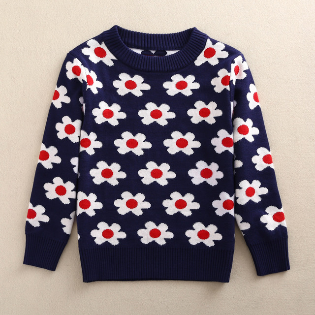 Boys Sweater Autumn Winter Children Clothing Flower Pattern Boys Knit Vest Kids Wool Sweaters Cardigan Children Girls Sweater