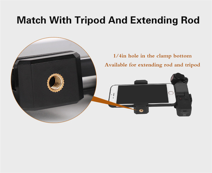 OSMO Pocket Smartphone Fixing Bracket Stand Clamp Extending Rod Tripod for DJI OSMO POCKET Gimbal Accessories 9