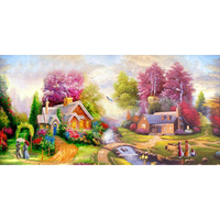 Diy Paintings Pastoral Resin Scenic Round Sale Diamond Painting 5D Cross Stitch Embroidery New Horse Needlework