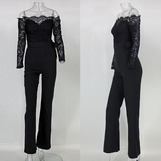Women's Elegant Off shoulder Lace Jumpsuit