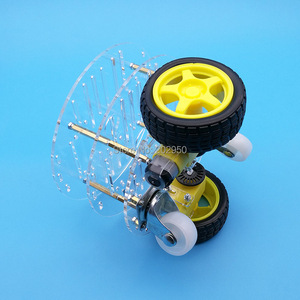 Image 4 - 1set 2WD Smart Robot Car 3 Layer Acrylic Chassis Kits with Speed Encoder For Arduino Promotion Free Shipping