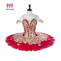 Взрослый профессиональная балетная пачка красное золото блин Peformance пачки балетное платье Балетные Сценические костюмы зеленый черный фио