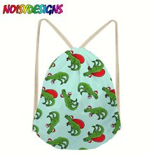 Tyrannosaurus Dinosaurs Drawstring bag for Girls Travel Storage Package Canvas School Backpacks Children Birthday Party Favors