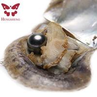 HENGSHENG цельнокроеное платье Морской идеально круглые жемчужины Oyster 9 10 ММ Tahitian ЧЕРНЫЙ ЖЕМЧУГ внутри Любовь Желание