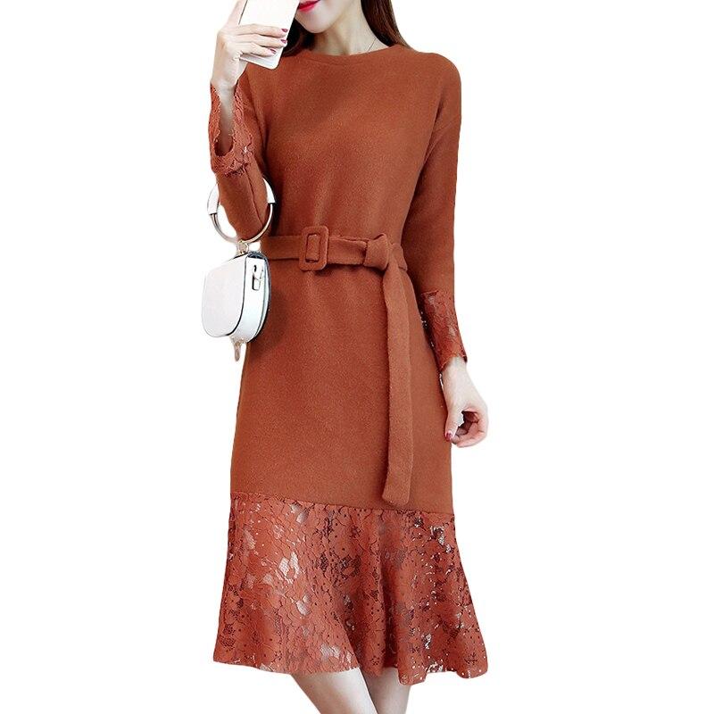 Grande taille M-5XL femmes vêtements 2018 printemps automne hiver coréen épaississement nouveau mince noir dentelle tenue décontractée femme CM2233