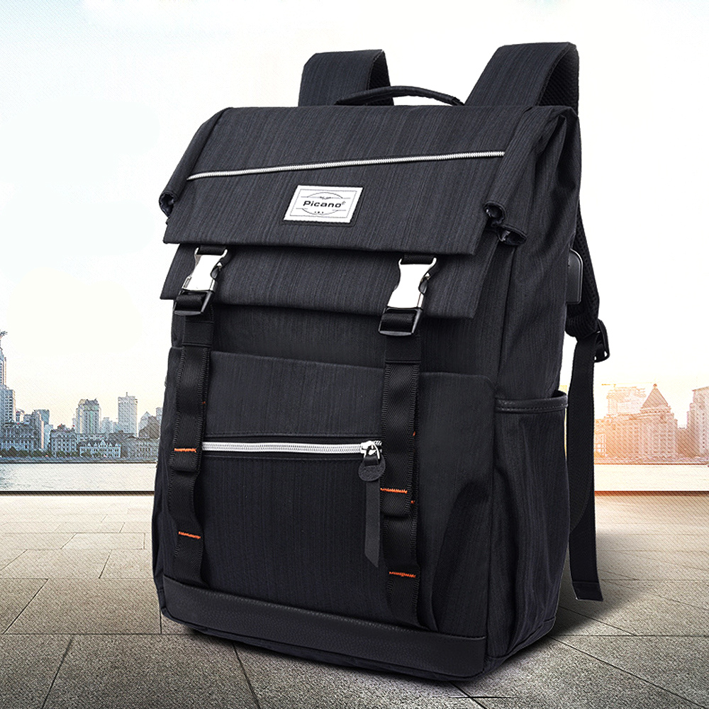 "14"" Laptop USB Charging Backpack Multifunction Anti Theft Schoolbag For Women Men Waterproof Sport Fitness Training Gym Bag"