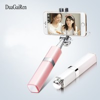 DuaGaiRen Mini Universal Lipstick Wired Selfie Stick Cover For Android IPhone Samsung Monopod Selfiestick Selfie Holder