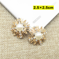 Free Shipping Wholesale 20pcs/lot 25mm Rhinestone Flatback Button For Hair Flower Wedding Invitation DIY Button ZIJE017