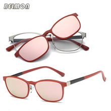 Clip On Sunglasses Magnetic Spectacle Frame Eyeglasses With Polarized Glasses Driving Optical