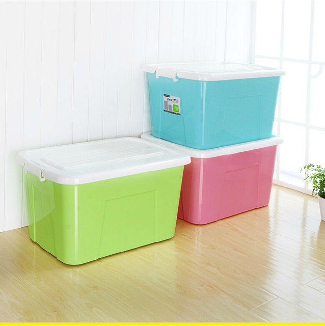 80l Super Large Plastic Storage Box Bedding Clothing Orgaizer Toys