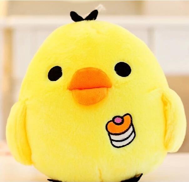Gambar Lucu Kartun Ayam Kecil Kuning Bantal Bersandar Mainan Mewah
