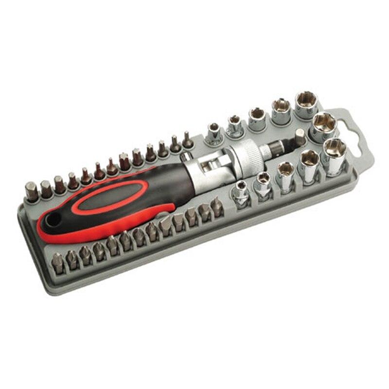 High Quality SD 2309 40Pcs Reversible Ratchet Screwdriver W Bits Sockets Set Hand Tools Screwdriver Set