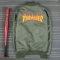 Mens Thrasher Bomber Jacket Coat Green and Black Color Outwear Trasher Jackets for Men 168