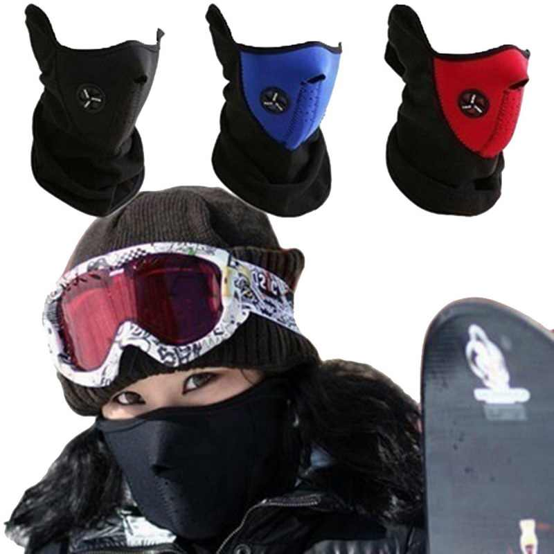 2019 Airsoft Warm Bike Half Face Mask Cover Face Hood Protection Cycling Ski Sports Outdoor Winter Neck Guard Scarf Warm Mask