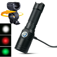 UniqueFire Powerful LED Flashlight Rechargeable USB Flashlight 18650 Cree XPE 240 Lumens LED Torch Light For