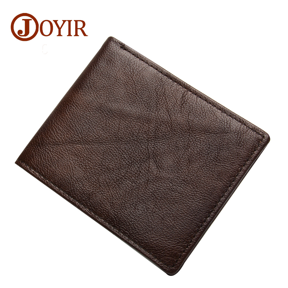 JOYIR Genuine Leather Men Wallets Vintage Small Wallet Purse Driver License Holder Short Coin Purse Card Holder Carteira Bag2031 new 2018 genuine leather men wallets short coin purse small vintage wallet brand card holder pocket purse man money bag