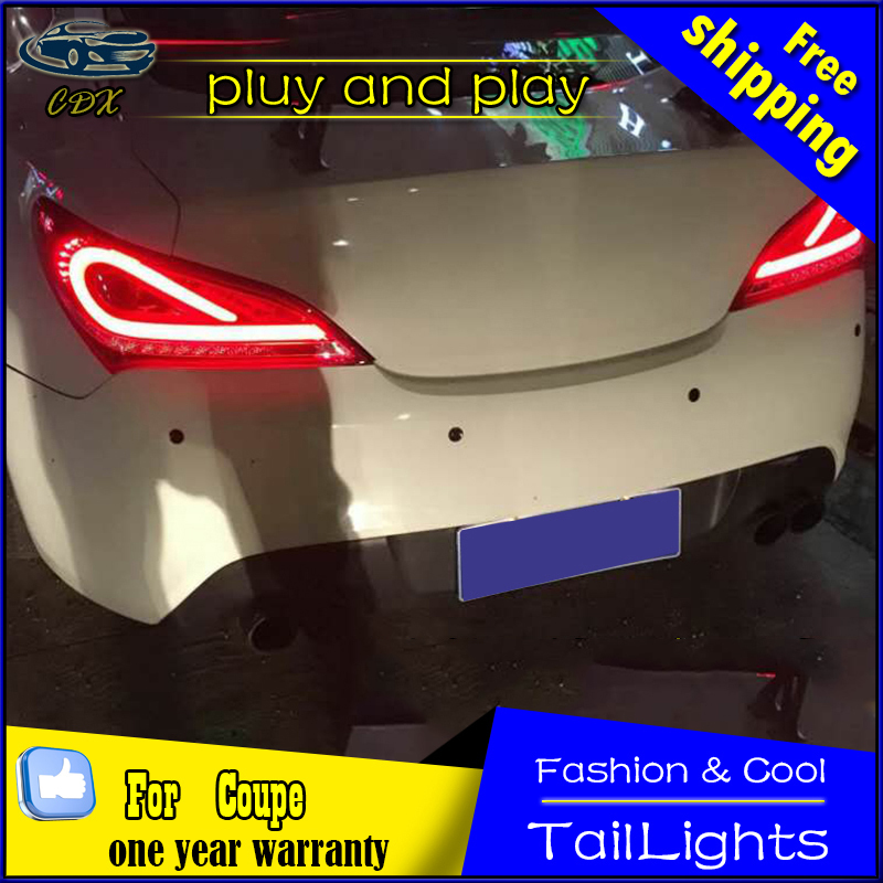 CDX Car Styling for Hyundai Rohens Coupe Tail Lights 2009-2012 Coupe LED Tail Light Rear Lamp DRL+Brake+Park+Signal