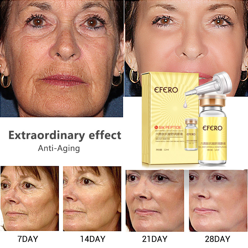 efero Argireline Essence Collagen Six Peptides Anti Wrinkle Serum for Face Cream Whitening Firming Skin Care Instantly Ageless 3