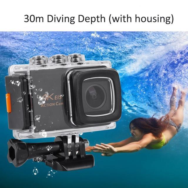 M80 4K عمل كاميرا 30FPS HD شاشة 20MP المضادة للاهتزاز للماء الرياضية WiFi عمل الكاميرا بطيئة الحركة/الفاصل الزمني كاميرا العمل