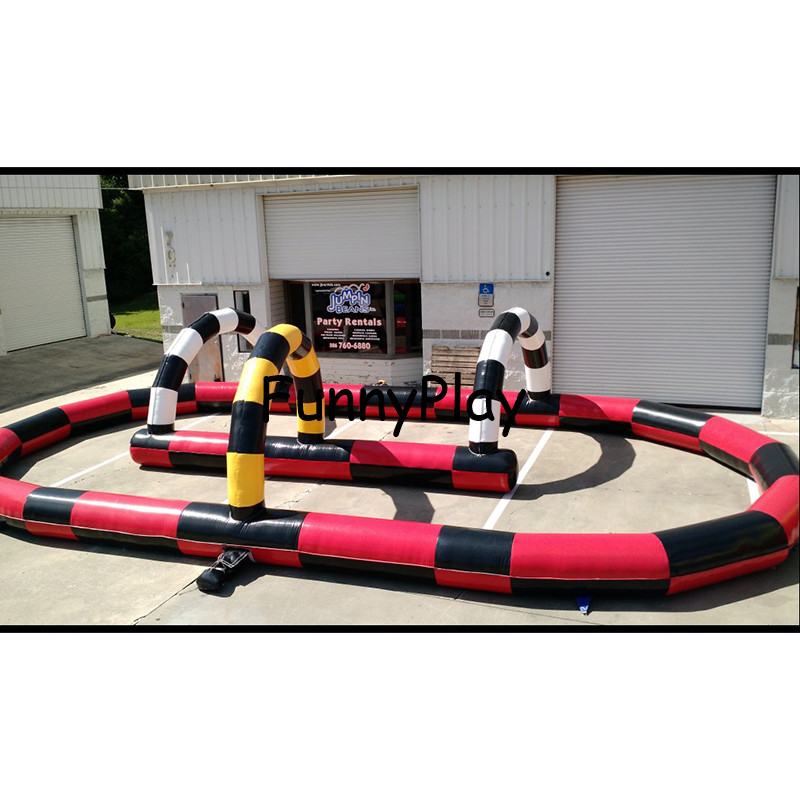 Inflatable Racing Car Autodrome,inflatable Racing Speedway,inflatable Go Kart Race Track,Inflatable Karting Track