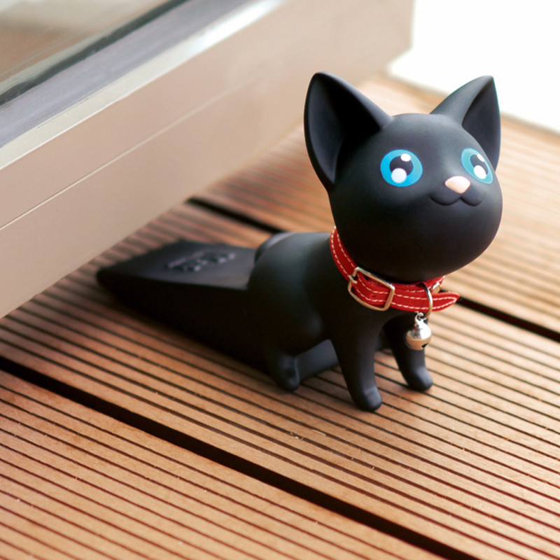 3-6 Years Old Child Safety Door Stopper Silicone Protection Against Clip  Plug Creative Kitten Baby Protective