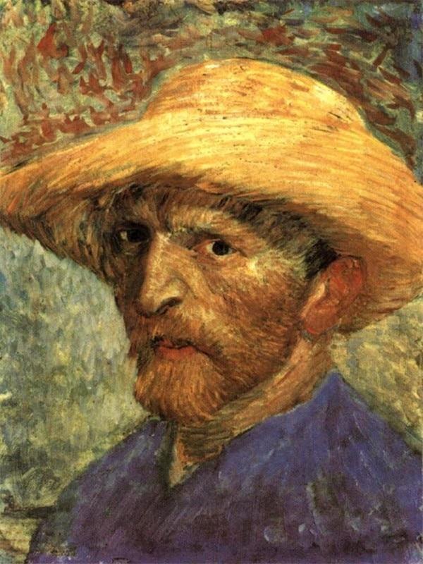 Rankomis dažyti van gogo aliejaus paveikslai, van gogo autoportreto - Namų dekoras